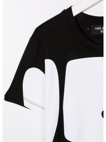 Neil Barrett Kids Black T-shirt With Macro Bold Logo