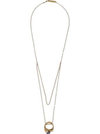 AMBUSH Misfit Stone Ring Necklace