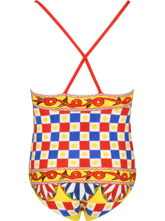 Dolce & Gabbana Multicolor Swimsuit For Girl