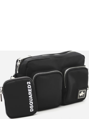 Dsquared2 Nylon Pouch With Contrasting Logo Print