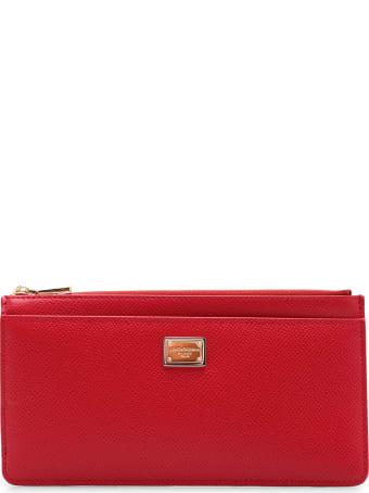 Dolce & Gabbana 'dg' Logo Leather Wallet