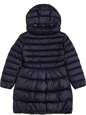 Il Gufo Long Quilted Blue Nylon Down Jacket