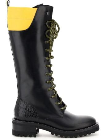 Fabrizio Viti Dolomite Two-tone Leather Boots