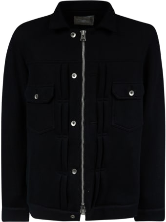 Sacai Front Zip Buttoned Jacket