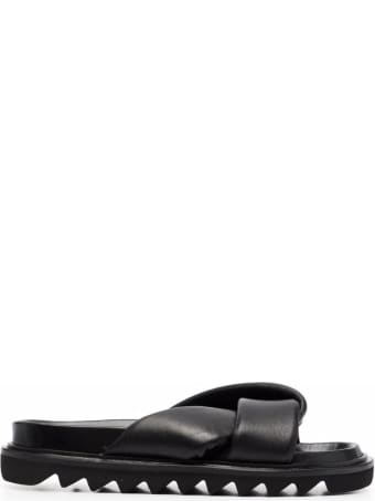 Studio Amelia Leather Sandals With Knot Detail
