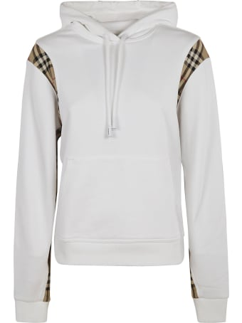 Burberry Check Detail Hoodie