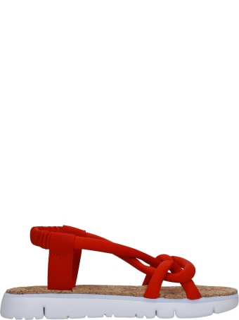 Camper Oruga Flats In Red Synthetic Fibers