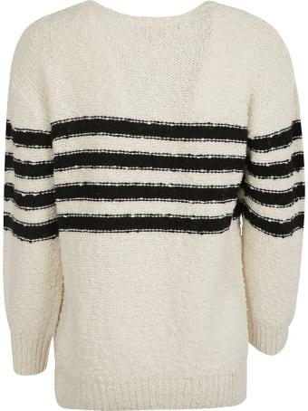 A.P.C. Stripe Detail Woven Sweater