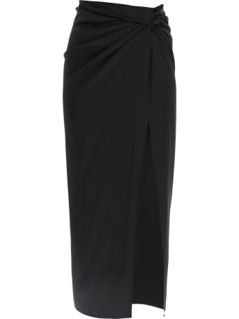 Magda Butrym Satin Midi Skirt With Knot