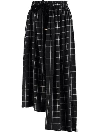 Mother Of Pearl Ruby Asymmetric Skirt