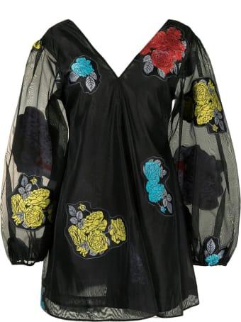 Ganni Patch Organza Dress