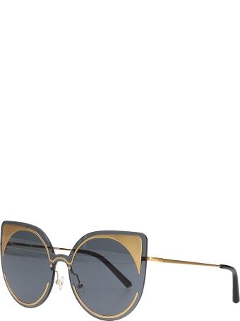 Linda Farrow Sunglasses In Black Pvc