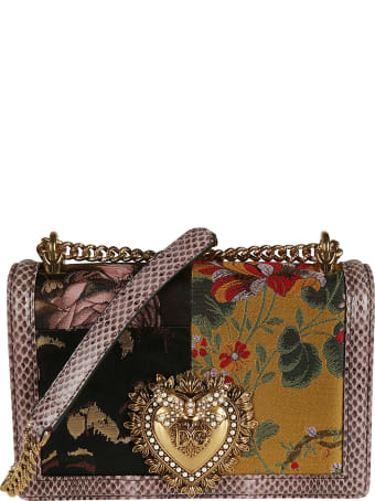 Dolce & Gabbana Heart Plaque Flap Chain Shoulder Bag