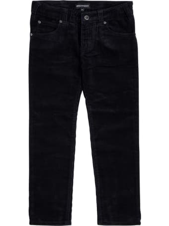 Emporio Armani Blue Denim Jeans With Logo