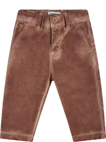 Dondup Brown Pants For Baby Boy