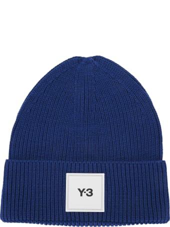 Y-3 Adidas Y3 Logo-patch Wool Beanie