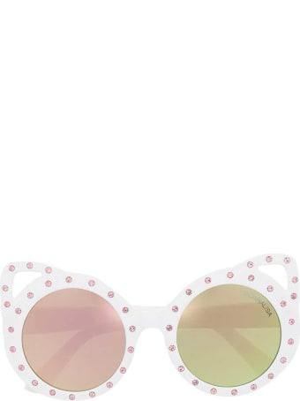 Monnalisa White Sunglasses