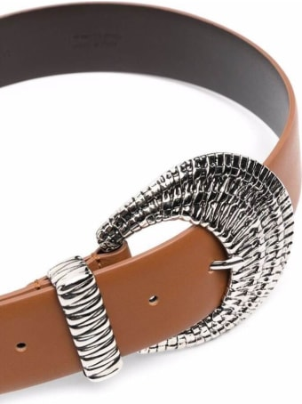 Alberta Ferretti Brown Leather Belt With Buckle