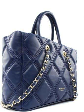 Avenue 67 Leila Blue Leather Shoulder Bag