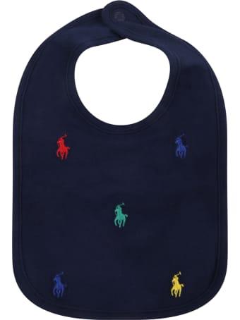 Ralph Lauren Blue Bib For Baby Kids