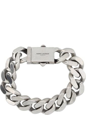 Saint Laurent Metal Curb Chain Bracelet