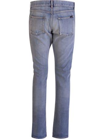 Saint Laurent Santa Monica Blue Slim Jeans