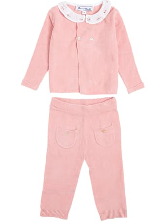 Tartine et Chocolat Coordinated Pink Cotton Suit