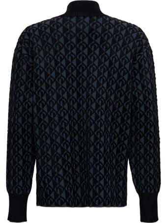Marine Serre Moon Black Sweater In Viscose Blend