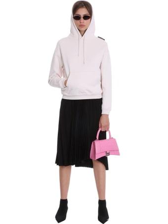 Balenciaga Sweatshirt In Rose-pink Cotton