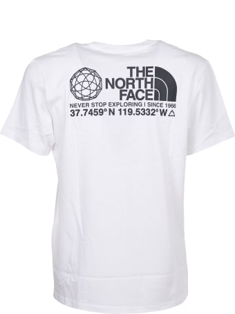 The North Face White Coordinates Print T-shirt