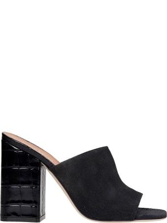 Paris Texas Milano Sandals In Black Suede