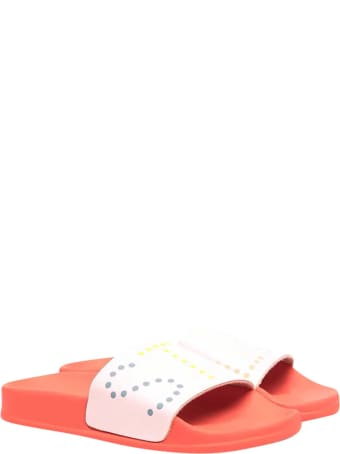 Stella McCartney Pink Slippers With White Logo Band