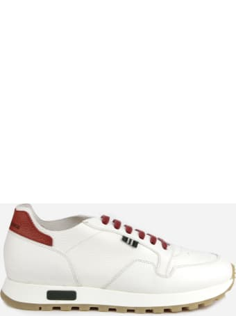 Green George Leather Sneakers With Contrasting Details