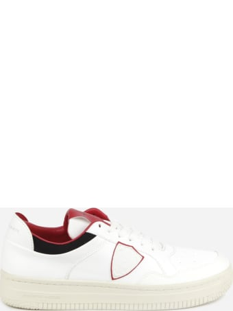 Philippe Model Vegan Leather Sneakers With Contrasting Inserts