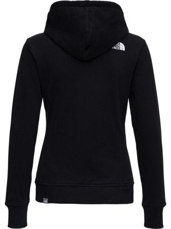 The North Face Black  Jersey Hoodie With Print
