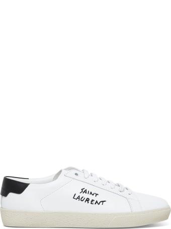 Saint Laurent Court Classic Sl Leather Sneakers