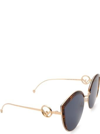 Fendi Fendi Ff 0290/s Gold Sunglasses