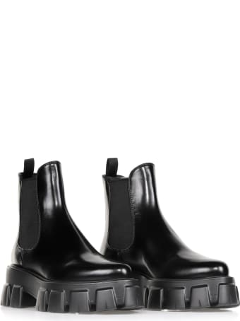 Prada Beatles In Black Leather
