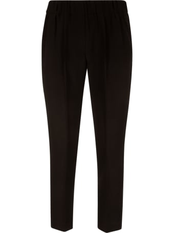Brunello Cucinelli Ribbed Waist Classic Trousers