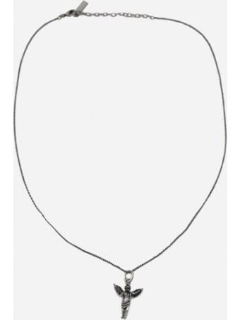 Saint Laurent Necklace With Brass Pendant