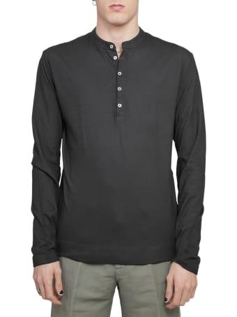 Massimo Alba Black Hawaii T-shirt