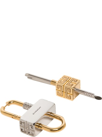 Givenchy Asymmetric Lock Earrings