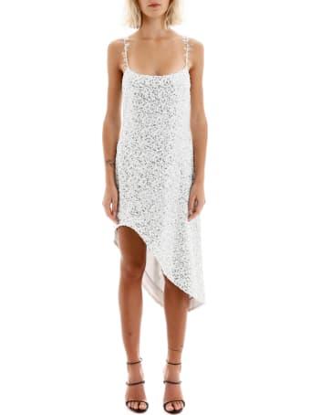 Halpern Asymmetric Sequined Dress