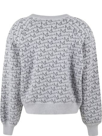 Magda Butrym All-over Logo Print Ribbed Sweater