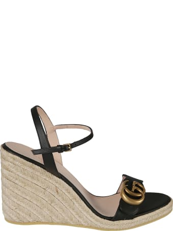 Gucci Lifford Wedge Sandals