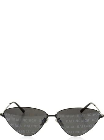 Balenciaga Woman Black Invisible Cat Sunglasses