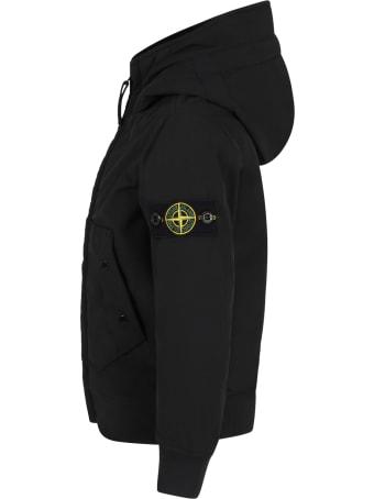 Stone Island Junior Black Jacket For Boy