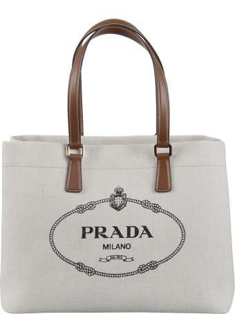 Prada Classic Logo Shopper Bag