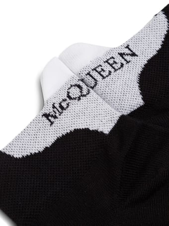 Alexander McQueen Cotton Socks With Logo