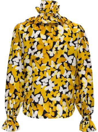 Saint Laurent Floral Silk Blouse
